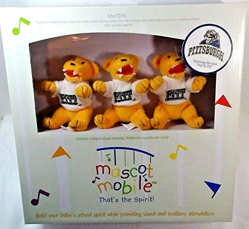 NCAA Pittsburgh Panthers Mascot Musical Baby Mobile ** (Mobile Baby Mascot)