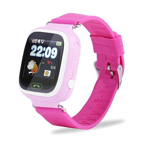 FTVOGUE SOS Anti-Verlust-Armbanduhr Smartwatch für Kinder Jungen Mädchen GPS Kinder Fitness Tracker WiFi
