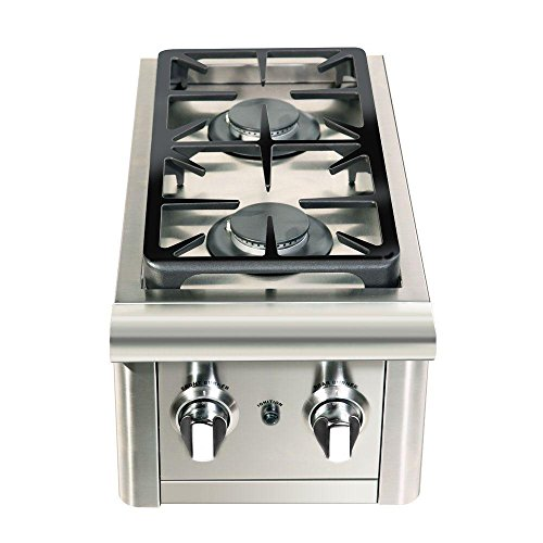 Capital Precision 2-Burner Stainless Steel Built-In Natural Gas Double Side Burner