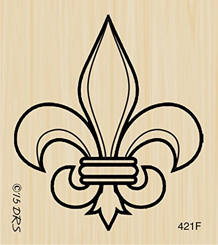 Amazon Fleur De Lis Rubber Stamp By DRS Designs Arts Crafts Sewing