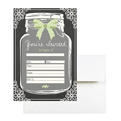 50 Rustic Mason Jar Invitations With Envelopes Perfect for Bridal Shower, Baby Shower, Birthdays, Graduation, Retirement Party, Decorations and Supplies for Any Event, Invitaciones Para Shower Niña