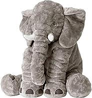 Elephant Pillows for Baby Giant Elephant Plush Toys Big Elephants Stuffed Animals Soft for Kids Adults Grey