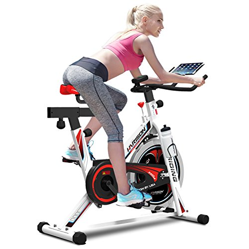 Indoor Cycling Bike for Home with iPad Holder/ Bottle Holder/ Water Bottle by HARISON B1850UAS