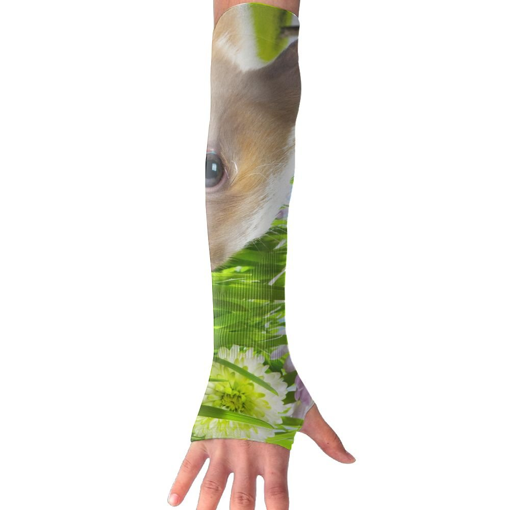 Beautiful Easter Bunny And Coloured Eggs Sun Sleeves UV Protection Cooling Arm Sleeves For Men Women