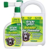 SIMPLE GREEN Outdoor Odor Eliminator for Pets - Dogs - Ideal for Artificial Lawns & Patio (32 Ounce Hose End Sprayer and 1 Gallon Refill)