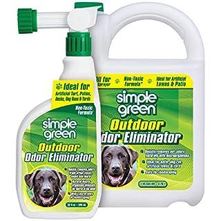 Simple Green Outdoor Odor Eliminator for Pets, Dogs, Ideal for Artificial Grass & Patio (32 oz Hose End Sprayer & 1 Gallon Refill)