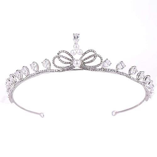 ZLYFS Coronas De Princesas Arco De Circón Corona Nupcial ...