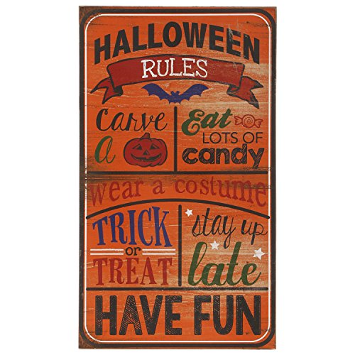 Raz Imports Halloween Decor - Halloween Candy Rules Subway (Rules For Halloween Candy)