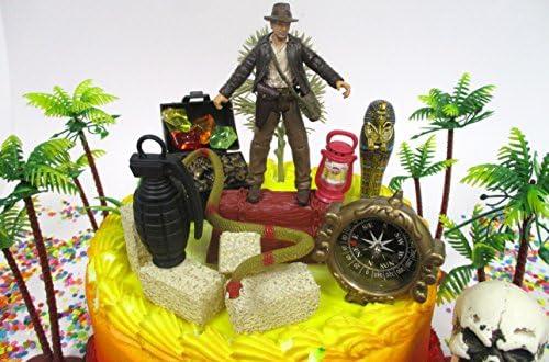 Superb Indiana Jones Birthday Cake Topper Set Featuring Indiana Jones And Funny Birthday Cards Online Inifodamsfinfo