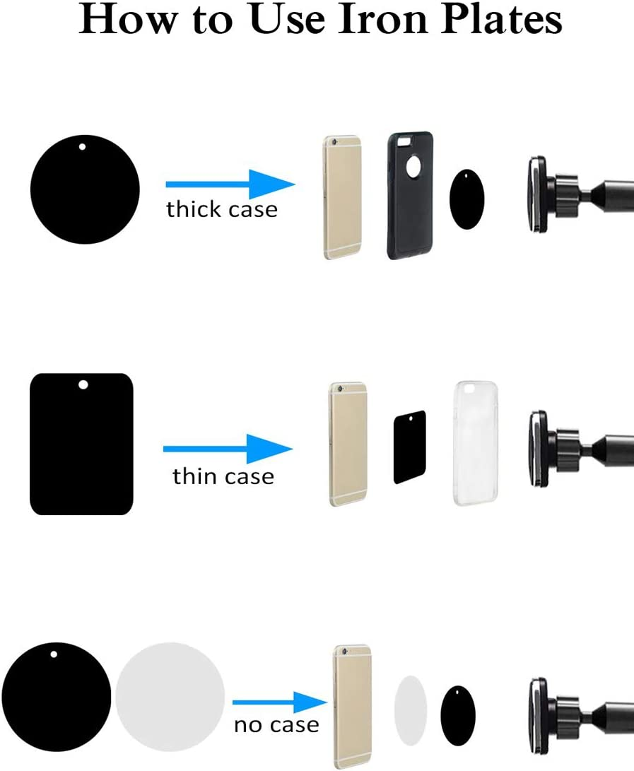 Calmpal Car Phone Mount for iPhone 11 Pro Xs Max XR X 8 7 6s Plus Samsung Galaxy S10 5G S10 S10e S9,Note 10,LG G8,Pixel,HTC Washable Strong Sticky Gel Pad//Extendable Holder Arm