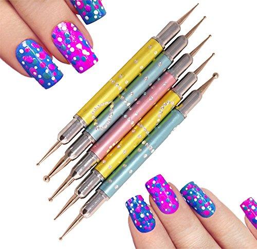 Mini Mani Moo Diamond Cut Dotting Tools 5 Pack, 5 Count
