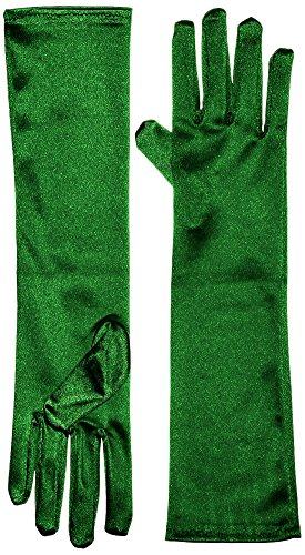 50's Dance Costume Ideas (Marvoll Lycra Spandex Elbow Length Gloves (One Size, Green))