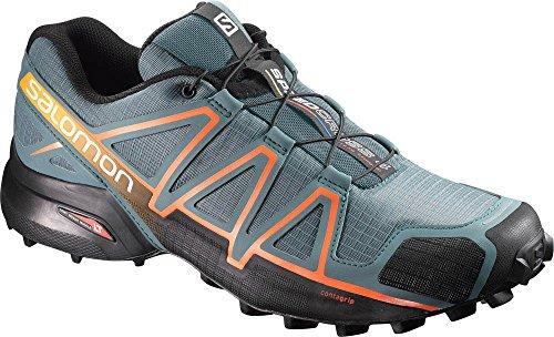 Salomon Speedcross 4, Zapatilla de Velcro para Hombre Gris (North Atlantic /black/scarlet Ibis)