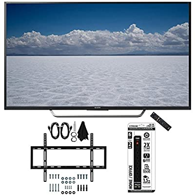 "Sony XBR-49X700D - 49"" Class 4K Ultra HD TV with Slim Wall Mount Bundle includes TV, Slim Flat Wall Mount Ultimate Kit and 6 Outlet Power Strip with Dual USB Ports"