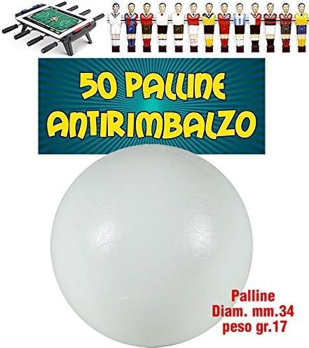 Futbolín Antirimbalzo Lote de 10 bolas blancas de polietileno de la primera opción, mm.33 16gr peso.: Amazon.es: Deportes y aire libre
