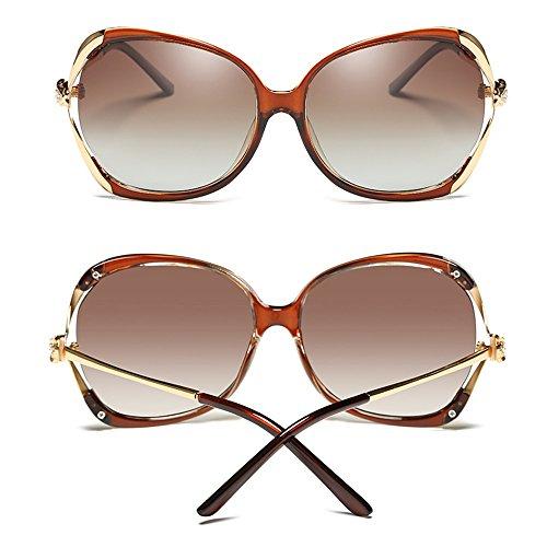 para de UV400 sol de con B Color SSSX conducir Gafas de D Gafas sol polarizadas Gafas sol montura mujer para 100 grande Gafas sol de zA1w5q1