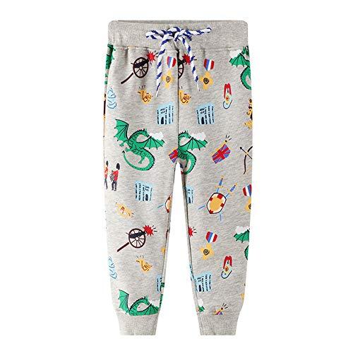 ZYUPHY Kids broek jongens meisjes school trainingspak joggingbroek elastische tailleband katoen patroon broek lange…