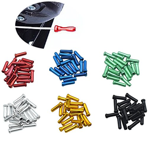 Bike Bicycle Brake Derailleur Cable End Caps Tips Silver 20 Pcs