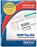 TaxRight Tax Forms by Complyright with Free Federal E-File: 1099 Misc. 4-Part for 10 Recipients with Self-Seal Envelopes