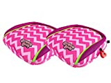 BubbleBum Backless Inflatable Booster Car Seat, Twin Pink Chevron Bundle