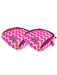 BubbleBum Backless Booster Car Seat, Twin Pink Chevron Bundle BOBEBE Online Baby Store From New York to Miami and Los Angeles