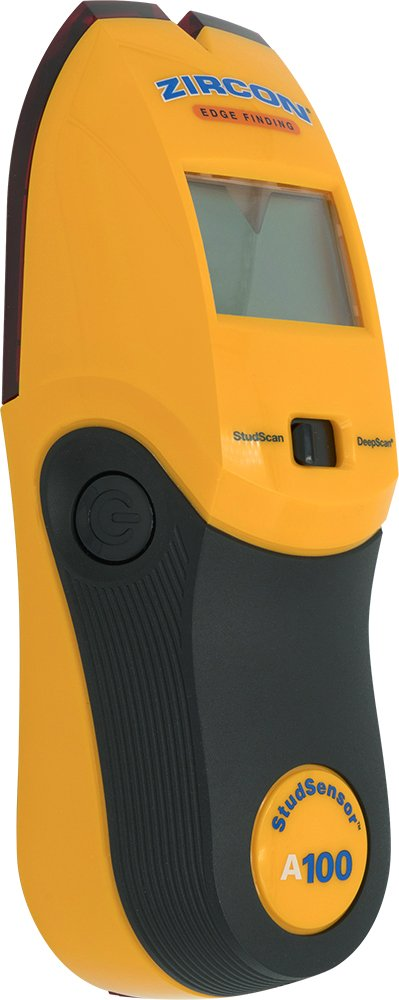 Zircon Stud Finder DIY Pro StudSensor A100 Wall Scanner StudScan Detects Edges of Wood Metal Studs at 3 4 DeepScan Detects Wood Metal to 1 1 2 Alerts Presence of Live, Unshielded AC Wire US Model