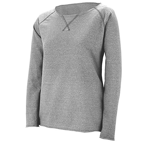 (Augusta Sportswear Women's French Terry Sweatshirt M Heritage Oxford Grey)