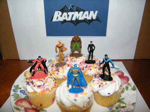 Batman Superhero and Villains Set of 12 Cake Toppers Cupcake Toppers Party Decorations for $<!--$9.95-->