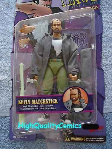 MAGE Action Figure, Matt Wagner, MIP, 1998, Glowing Bat, more AF in store