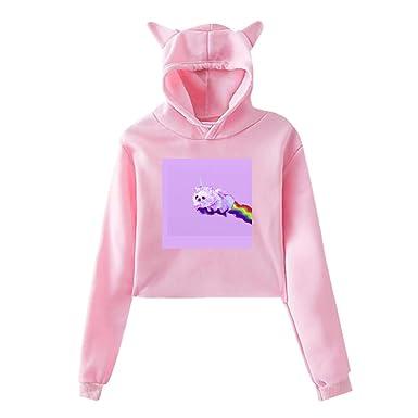 c99b4b23f158 Amazon.com  Shadidi Girls Womens Unicorn Dog Rainbow Cute Cat Ear 3D ...