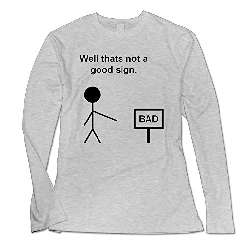 Ongshuquwe Well Thats Not A Good Sign Women's Casual Long-sleeved Round Neck T-shirt Autumn And Winter S Ash (Abc Halloween Asl)