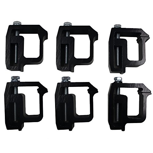 iFJF Mounting Clamps Truck Caps Camper Shell Powder-Coated fit Chevy Silverado Sierra 1500 2500 3500,Dodge Dakota Ram 1500 2500 3500,Ford F150 F250,Nissan Titan,Toyota Tundra Set of 6 (Black)