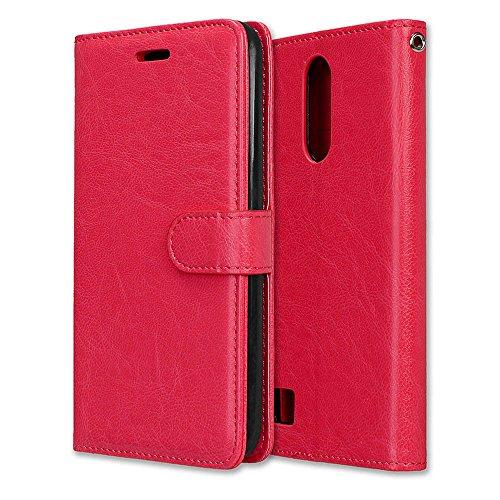 Funda LG K10 2017, Ecoway [3 ranuras para tarjetas] Serie retro Cuero de la Scrub PU Leather Cubierta, Función de Soporte Billetera con Tapa para Tarjetas Soporte para Teléfono para LG K10 2017- A-1 A-3