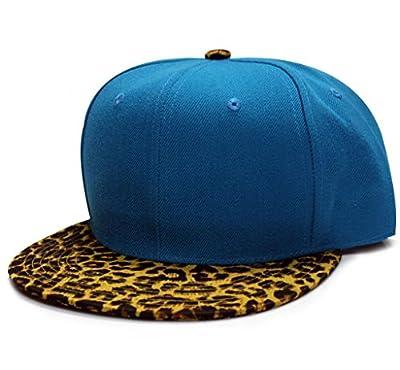 City Hunter Cf1640p Plain Leopard Snapback Cap (11 Colors)