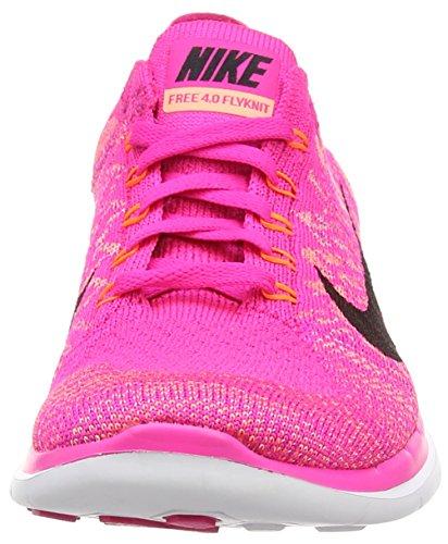 NikeFree 4.0 Flyknit - Zapatillas de correr mujer Rosa (Pink Foil/Black/Sunset Glow)