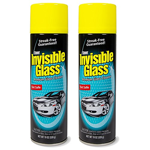 Invisible Glass 91164-2PK Premium Glass Cleaner 19-Ounce Can-Case of 2, 38. Fluid Pack