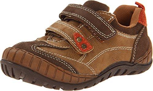 Jumping Jacks Kids Baby Boy's Mack (Toddler/Little Kid) Dark Brown Suede/Orange (Youth Dark Brown Suede Footwear)