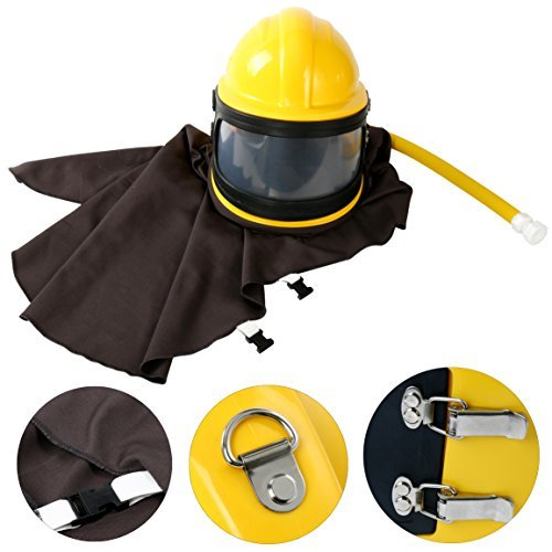 AIR Supplied Safety Sandblast Helmet Sandblasting Hood Protector (Yellow)