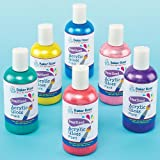 Pearlised Acrylic Paint 6 Assorted Colours 150ml Each Quick Drying & Waterproof(Set of 6)