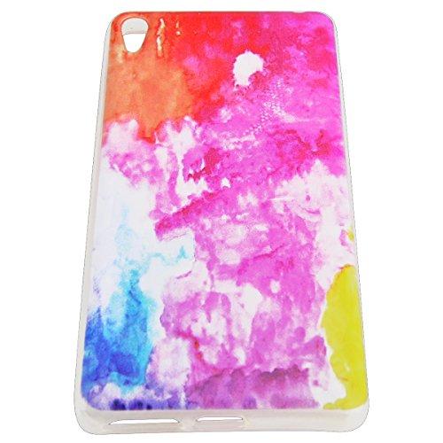 WE LOVE CASE Sony Xperia E5 Funda, Carcasa de Silicona Ultra Fina Resistente Case, Flexibilidad Blanda Anti Rasguños Choque con Diseño Creativo Cover Para Sony Xperia E5 - Mármol Rosa Mármol rosa