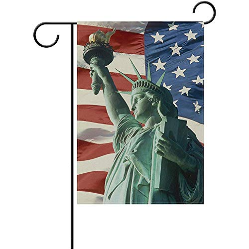 Pansyhome Garden Flag Home Decoration Yard Flag Statue of Liberty Outdoor/Indoor Double Side Polyester Yard Flag 12x18 Inch