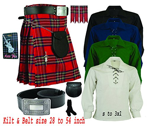Men's Traditional Scottish Highland (08) Pieces Kilt outfit by House of (Scottish Outfit)