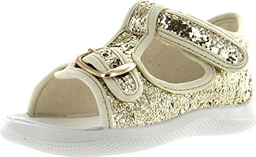 Naturino Girls 7786 Fashion Sandals,Gold Glitter,20
