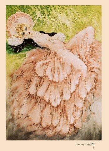 Icart Fashion Lady Vintage Poster Art Deco Repro Lady in Pink FREE SHIPPING