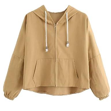 4dd4ee142bf4 TWBB Pullover Damen Trenchcoat Einfarbig Sweatshirts Kapuzenpullover Hoodie  Kapuzenjacke Tops Mode 2018  Amazon.de  Bekleidung