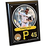 "MLB Pittsburgh Pirates Gerrit Cole Plaque with Game Used Dirt from PNC Park, 8"" x 10"", Navy"