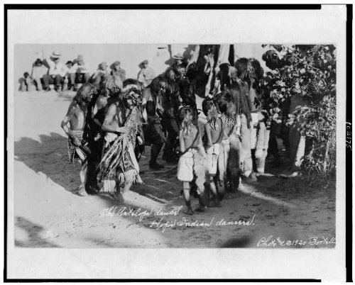 [Photo: Antelope dance,Hopi Indian dancers,North America,Natives,costumes,feathers,c1921] (North Indian Dance Costumes)