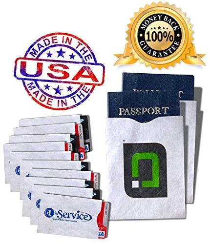 RFID Blocking Sleeves 10 Credit Card and 2 Passport Protectors Photo #2