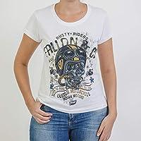 Camiseta Baby Look Feminina Fallon Born to Ride II Branca