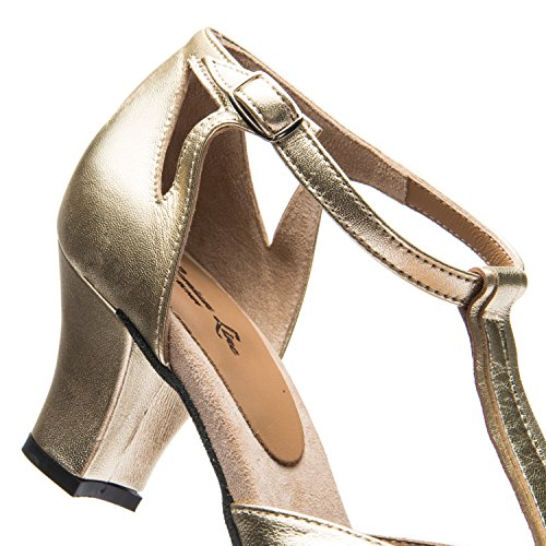 Rumba Tango Heel Made in Rumpf Latin Leather 9210 Suede Salsa Upper Ballroom Ladies Shoes Dance Italy Gold 2´´ Sole Shoes Balboa Gold fTxd8q0x